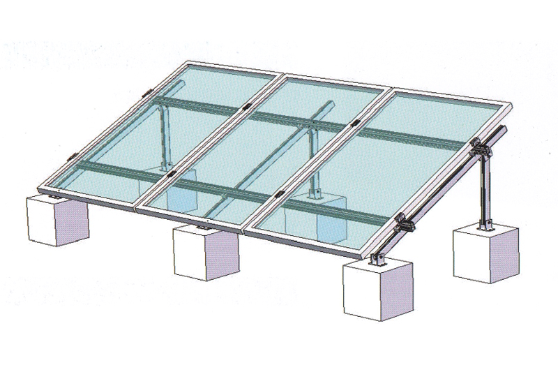 FLAT ROOF SINGLE LINE BALLASTED SYSTEM